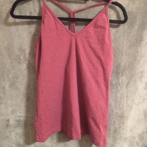 Hard Tail Tops - Hard Tail lattice back barre yoga top, size L